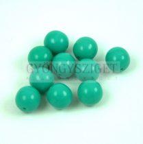 Cseh préselt golyó gyöngy - Green Turquoise - 8mm