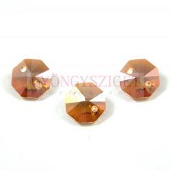 Swarovski - 6404 - crystal copper octagon kétlyukú gomb - 12mm