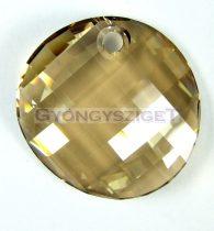 Swarovski - 6621 - 28mm - Crystal golden shadow Twist medál
