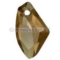 Swarovski - 6656 - 19mm - Galactic vertical crystal bronze shade medál