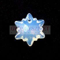 Swarovski - 6748 - 14mm - Edelweiss medál - white opal