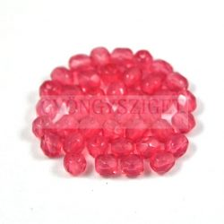 Cseh csiszolt golyó gyöngy - opál mályva rózsaszín-4mm