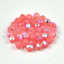 Cseh csiszolt golyó gyöngy - rózsaszín opál ab-4mm