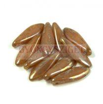 Lándzsa (szirom) cseh préselt üveggyöngy - mogyoró-márvány traventin -5x16mm