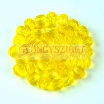 Cseh csiszolt golyó gyöngy - áttetsző sárga-4mm