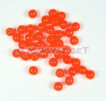Préselt golyó gyöngy- transzparens narancs-4mm-p