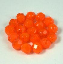 Cseh csiszolt golyó gyöngy -  halvány narancs -6mm