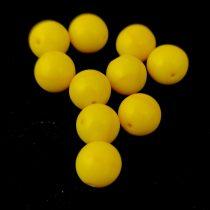Préselt golyó gyöngy- Opaque Jonquil Luster - 8mm