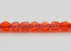 Cseh csiszolt golyó gyöngy -  narancs-3mm