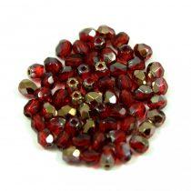 Cseh csiszolt golyó gyöngy -  ruby bronze -3mm