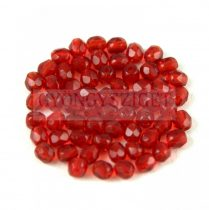Czech Firepolished Round Glass Bead - red-3mm
