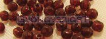 Cseh csiszolt golyó gyöngy - nagyon sötét bordó-3mm