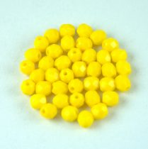 Cseh csiszolt golyó gyöngy - Opaque Sunflower - 4mm