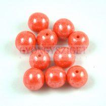 Préselt golyó gyöngy- Opaque Light Orange Luster - 4mm