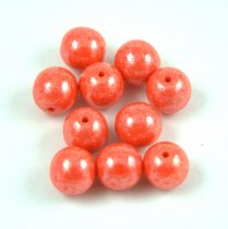 Préselt golyó gyöngy- Opaque Light Orange Luster - 8mm