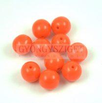 Préselt golyó gyöngy - Opaque Orange - 8mm