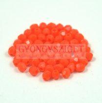 Cseh csiszolt golyó gyöngy - narancs - 3mm