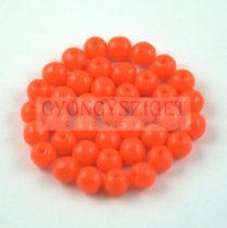 Préselt golyó gyöngy- telt narancs -4mm-p