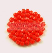 Czech Firepolished Round Glass Bead - Opaque Red - 3mm