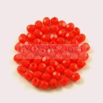 Cseh csiszolt golyó gyöngy - Opaque Red - 3mm