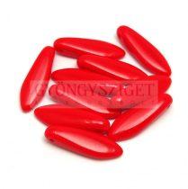 Lándzsa (szirom) cseh préselt üveggyöngy - Opaque Red - 5x16mm