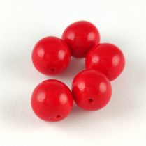 Cseh préselt golyó gyöngy -  Chilli Red - 10mm