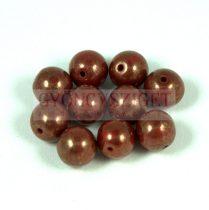 Cseh préselt golyó - bordó bronz lüszter -8mm