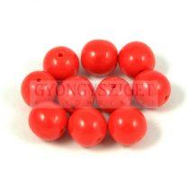 Cseh préselt golyó gyöngy -  Opaque Red - 6mm