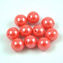 Préselt golyó gyöngy- Opaque Orange Luster - 8mm