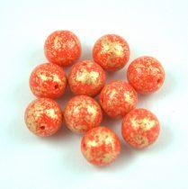 Cseh préselt golyó - Coral Red Gold Patina - 8mm
