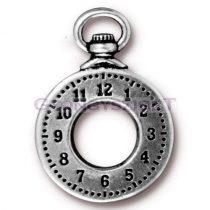 Medál - óra - antik ezüst --30x21mm