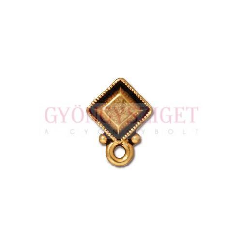 4a50b239f Fülbevaló alap - bedugós - Faceted Diamond - antik arany színű