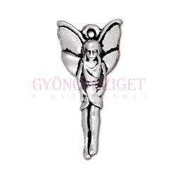 Medál - angyal - antik ezüst színű