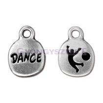 Medál - Dance - antik ezüst színű medál - 16mm