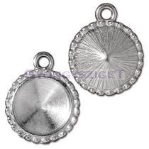 Köztes elem - 12mm-es rivolihoz - ezüst színű