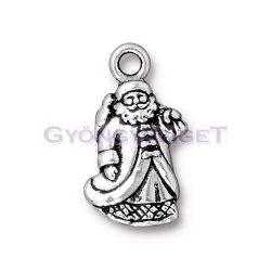 Medál - télapó - antik ezüst színű