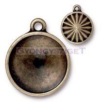 Köztes elem - 18mm-es rivolihoz - antik sárgaréz színű
