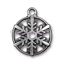 Medál - hópihe - antik ezüst színű - 16mm