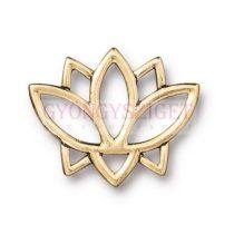 Köztes elem - fülbevalóhoz - Open Lotus - arany színű