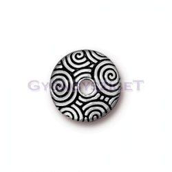 Gyöngykupak - Spiral Dance - antik ezüst színű