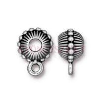 Fémgyöngy - Beaded Crown - antik ezüst színű - 15mm