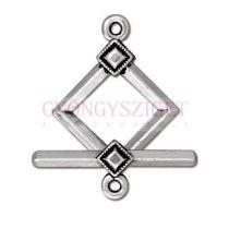 T-kapocs - deco diamond - antik ezüst színű