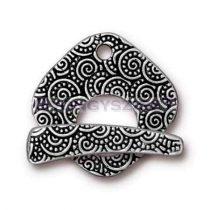T-kapocs - Large Spiral - antik ezüst színű
