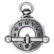 T-kapocs - óra - antik ezüst színű
