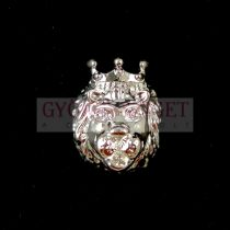 Fémgyöngy - oroszlán - ezüst színű - 11x14mm