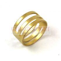 Karikanyitó gyűrű - sárgaréz színű