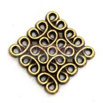 Köztes elem - antik sárgaréz színű - 15mm