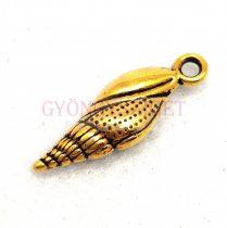 Medál - Vizicsiga - arany színű - 23x8mm