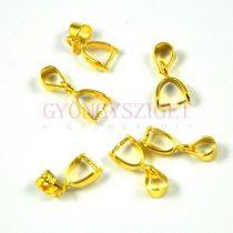 Medálvezető - csepp - arany színű - 5x15mm - 136