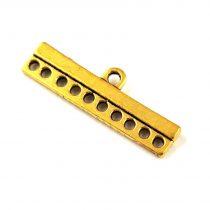 Medálvezető - indás - fényes ezüst színű - 21x15mm - 217